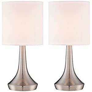 "Zofia 13""H Metal Touch Accent Table Lamps Set of 2"