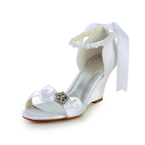 Jia Jia Wedding 121756 chaussures de mariée mariage Escarpins pour femme blanc, EU 38