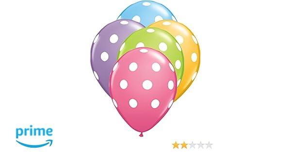 5 Pack Assorted Balloons Qualatex Metallic Polka Dot Pastel Celebration Birthday