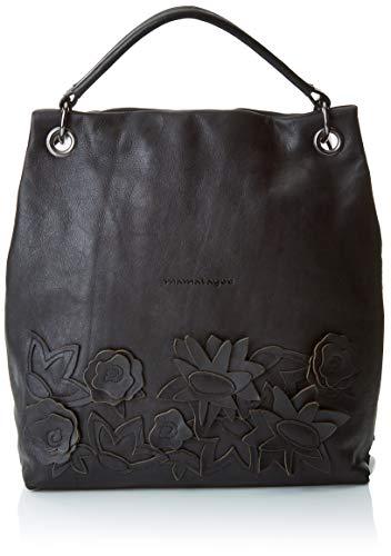 W Real cm dos portés x Leather Black Noir H MAMATAYOE L femme Sacs 31x31x11 Espiral qw0gWP1A