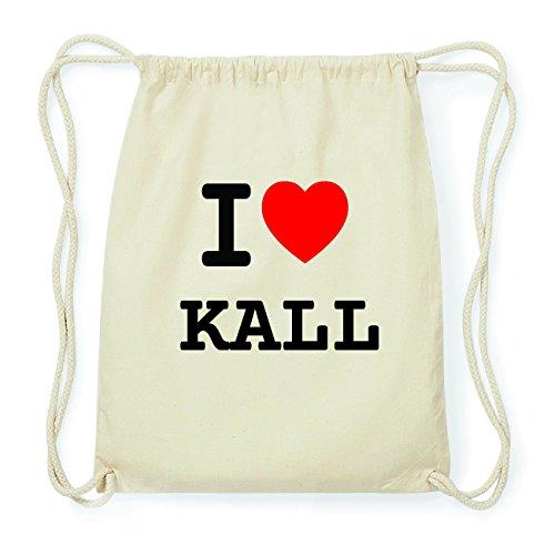 JOllify KALL Hipster Turnbeutel Tasche Rucksack aus Baumwolle - Farbe: natur Design: I love- Ich liebe iIpWSd6lF7