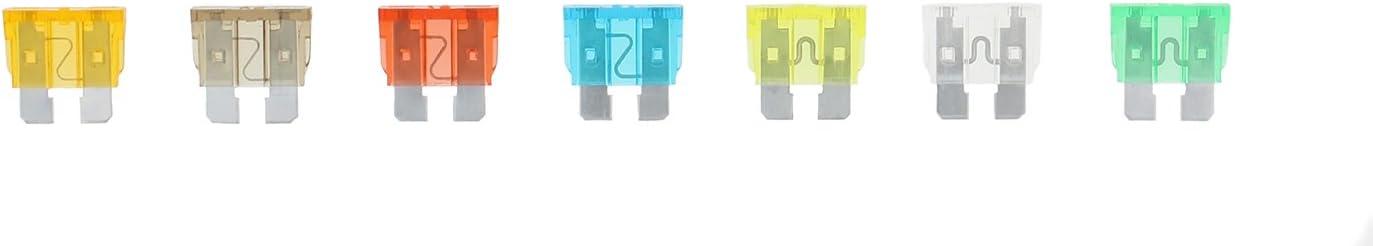 ABN 120-Piece Standard Fuse Assortment, 5, 7.5, 10, 15, 20, 25, 30 AMP – Regular ATM Blade Fuses for Cars, Trucks, Boats: Automotive