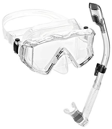 - Phantom Aquatics Panoramic Scuba Mask Snorkel Set, Clear