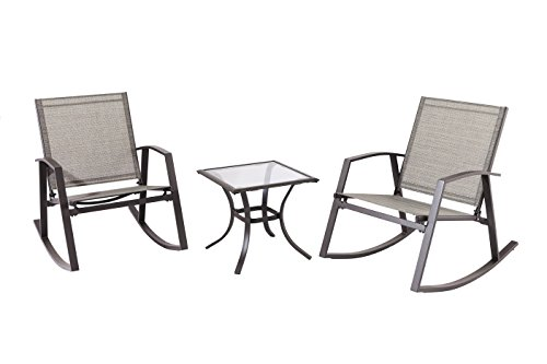 Backyard Classics Bridge Haven 3-Piece Outdoor Sling Rocker Set