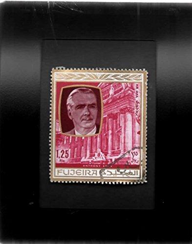 Eden Framed - Tchotchke Framed Stamp Art - Historic Personages - British Statesman Anthony Eden