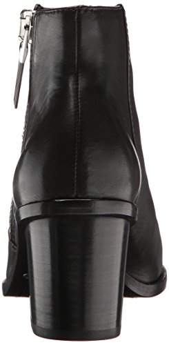Peep Boot Zip Grain FRYE Women's Full Bootie Brielle Black Soft Polished tAqnTwn6