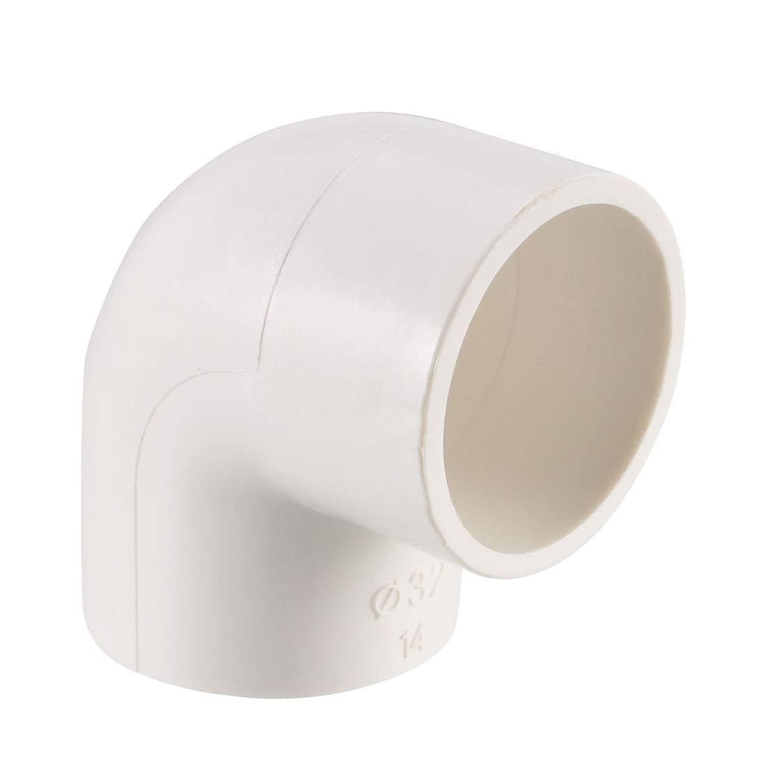 10 unidades Conector deslizante de 25mm Adaptador de tuber/ías de PVC sourcing map Conector de acoplamiento de codo de 90 grados Gris