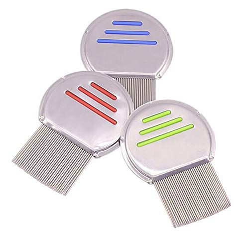 Goonpetchkrai.rapat7498 Lice Comb Comfort Head Lice Comb Metal Nit Head Hair Lice Comb Fine Toothed Flea Flee with Handle for Kids Pet Tool by Goonpetchkrai.rapat7498