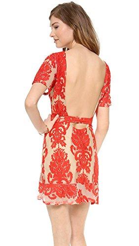 For Love & Lemons Women's San Marcos Mini Dress, Red, Medium by For Love & Lemons (Image #2)