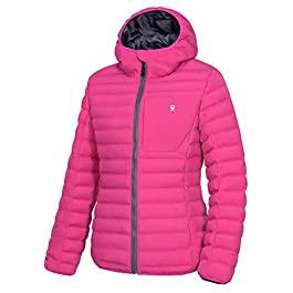 Little Donkey Andy Women's Warm Waterproof Puffer Jacket Hooded Windproof Winter Coat with Recycled Insulation