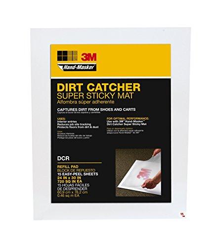 Hand-Masker 3M Dirt Catcher Super Sticky Mat 6 Pack Refill Pads - 90 Sheets