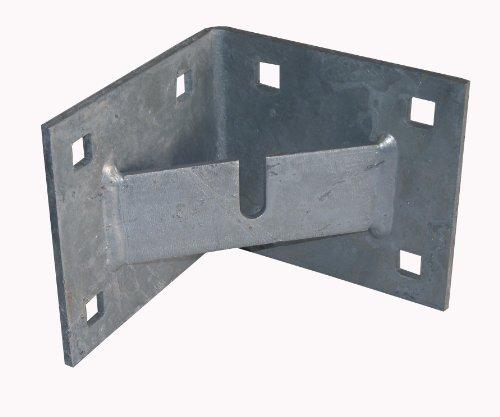 Dock Edge + Inc. Floating Dock Heavy Duty Galvanized Corner Plate with Anchor Chain Bar B013XR3MC4