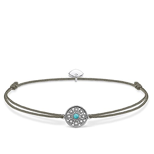 THOMAS SABO Damen-Armband Little Secret Ethno 925 Sterling Silber LS022-378-5-L20v