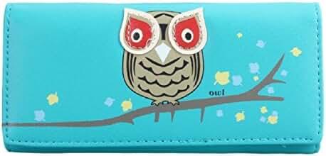 Tonsee Women Owl Pattern Long Wallet