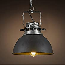 "Industrial Edison Vintage Pendant Light - LITFAD 12"" Rustic Barn Metal Pendant Lighting Chandelier Mounted Light Fixtures Ceiling Light C"