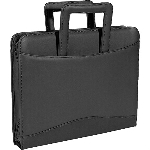 Royce Leather Zip Around Binder Portfolio - Top Grain Nappa Cowhide - Black by Royce Leather