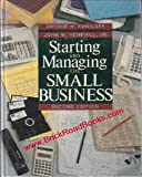 Starting and Managing the Small Business, Kuriloff, Arthur H. and Hemphill, John M., Jr., 0070356653