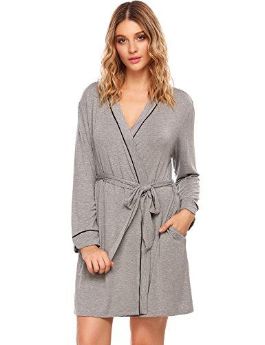 Jersey Knit Bath Robe - 8