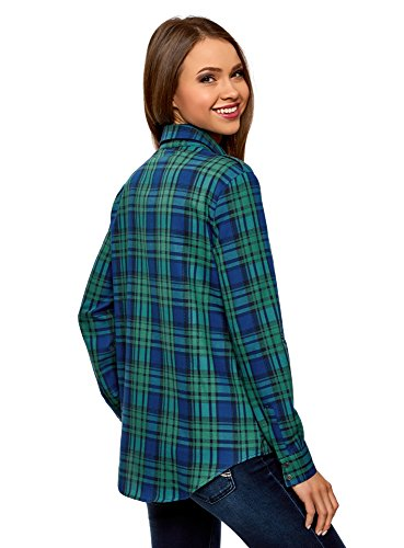 6e75c a Ultra Tasche Camicia oodji Donna Verde Quadri con wBR7qq