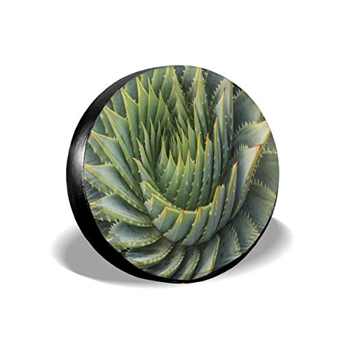 GULTMEE Tire Cover Tire Cover Wheel Covers,Botanic Spikey Wild Nature Inspired Western Dessert Plant Flower Artwork Image,for SUV Truck Camper Travel Trailer Accessories(14,15,16,17 Inch) - Desserts Inspired Asian