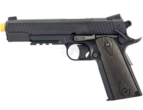 - CyberGun COLT 1911 Non-Blowback Metal CO2 Gas Airsoft Pistol Gun with Rail 6mm Stainless Steel (Black)