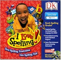 Price comparison product image BRAND NEW Dk Multimedia I Love Spelling Six Exciting Games Intelligent Progress Tracking Covers Curricula