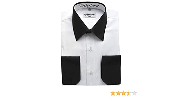 575ae631a6e Berlioni White - Black Two Tone Mens Dress Shirt at Amazon Men s Clothing  store