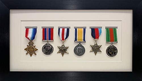 Kwik - Marco de Fotos para medallas Militares, de Guerra y Deportivas, Marco de Fotos 3D para Seis medallas, Marco Negro con Soporte de Marfil: Amazon.es: Hogar