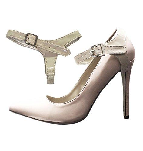 Brillant à Sangles Chaussure Beige laches chaussures place hauts des Amovibles Cuir chaussures Pour en de plates maintenir talons qawAqfnr