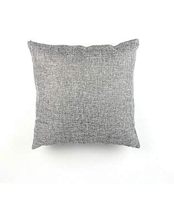 Cubierta de la almohada de la oficina funda de almohada ropa de lino viento color sólido