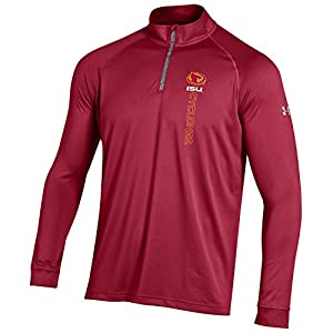NCAA Iowa State Cyclones Boy's Tech Quarter Zip Tee, XX-Large, Crimson
