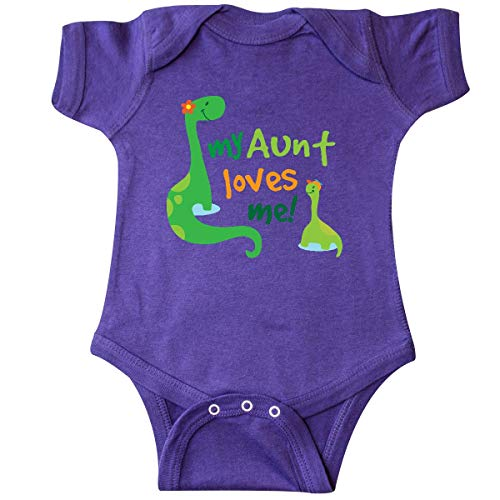 (inktastic - My Aunt Loves Me Nephew Infant Creeper 6 Months Purple 1c0f2)