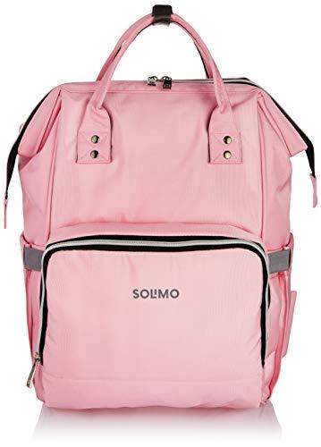 Amazon Brand   Solimo Baby Diaper Bag, Pink