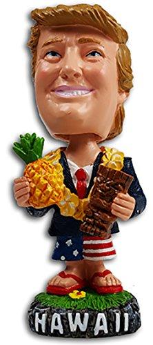 President Trump Hawaii Bobble Head Dashboard Doll Tiki Pineapple ()
