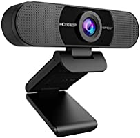 WEBカメラ eMeet C960 ウェブカメラ HD1080P 200万画素 90°広角 高画質パソコンカメラ ワイドサイズ対応 内蔵マイク skype会議用PCカメラ Windows 10/8 / 7 Mac OS X, Youtube,...