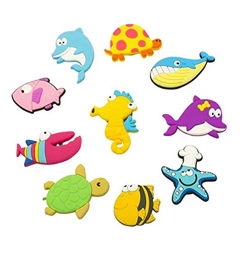 VLOOK Kids Refrigerator Magnets 3D Cute Cartoon Sea Animal Fridge Magnets for Toddlers Whiteboard Noticeboard Toys