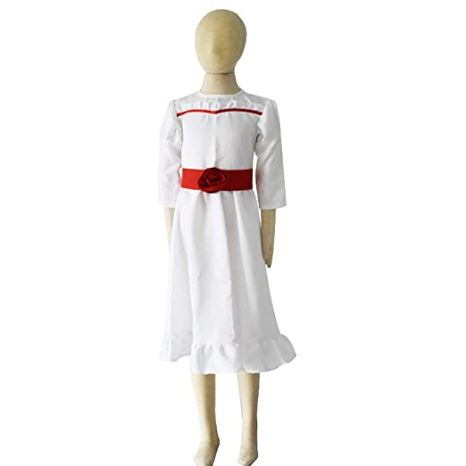 Disfraz De Annabelle Horror Scary White Dress Vestido de Pajarita ...
