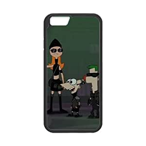Phineas & Ferb Across the 2nd Dimension iPhone 6 Plus 5.5 Inch Cell Phone Case Black as a gift I699308
