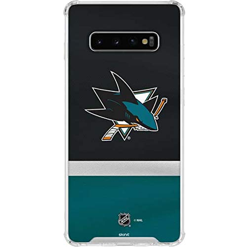 7591592e3ff Image Unavailable. Image not available for. Color: Skinit San Jose Sharks  Jersey Galaxy S10+ Clear Case ...