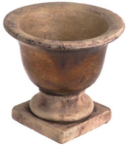 CB Roman Rustic Urn Planter Plant Pot Vase Decor Stoneware Planter Antique Style
