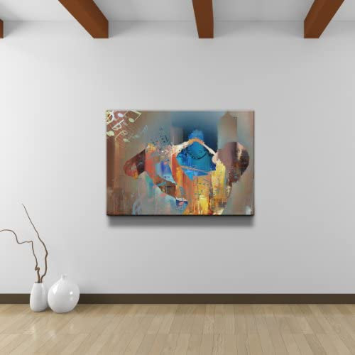 Ready2HangArt Color of Jazz V' Abstract Modern Contemporary Canvas Wall Art Print