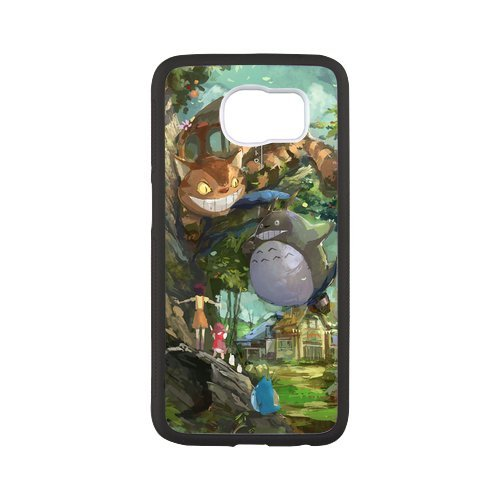 Fayruz- Personalized Protective Hard Textured Rubber Coated Case Cover for Samsung Galaxy S6 - My Neighbor Totoro -S6O1134