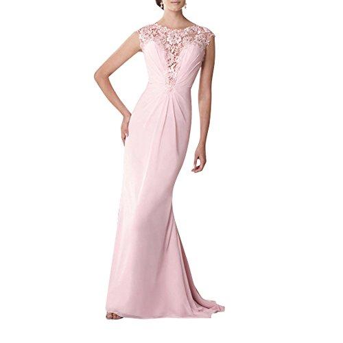Festlichkleider La Kleider Langes Brau Glamour Spitze Standsamt mit Rosa Abendkleider Brautmutterkleider mia Chiffon Abschlussballkleider zrwqzZnUC