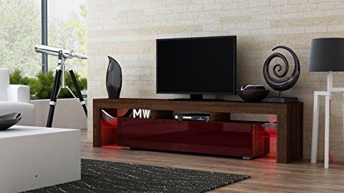 Tv Stand Milano 200 Walnut Line Modern Led Tv Cabinet