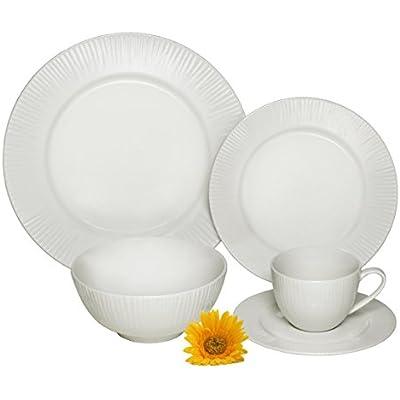 Click for Melange 40 Piece Cascades Premium Dinnerware Place Setting, Ivory