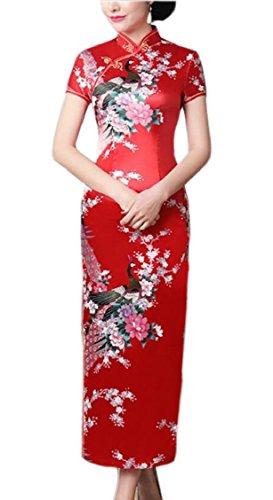 Sleeve Vintage Jaycargogo Qipao Short Chinese Long Womens 1 Cheongsam Dress t4wAqTw