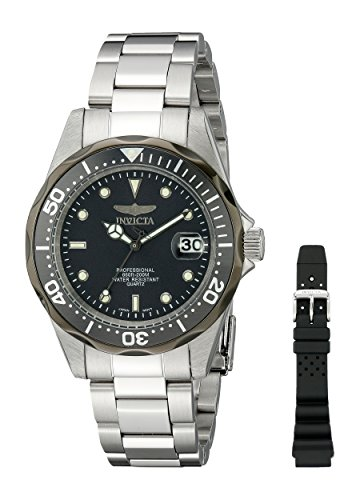 Invicta Men's 12812X  Pro Diver Analog Japanese Quartz Silver Stainless Steel Watch