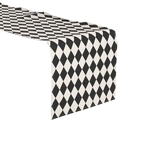 Two Tone Harlequin Design Table Runner (16