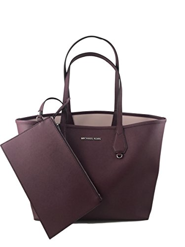 Michael Kors Candy LG Reversible PVC Tote Bag Plum/Blossom by Michael Kors