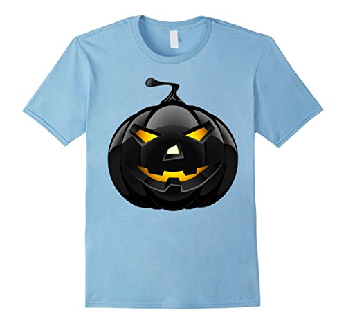 Ideas Retro Costumes (Mens Scary Black Pumpkin T-Shirt Retro Halloween Costume Idea XL Baby)